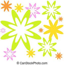 modèle, fleurs, fond