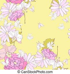 modèle, fleurs