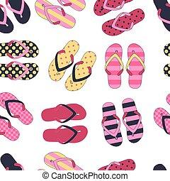 modèle, flops., seamless, coloré, chiquenaude