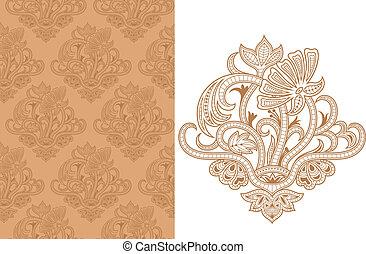 modèle floral, b, seamless