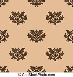 modèle floral, beige, seamless