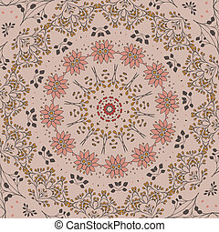 modèle floral, cercle