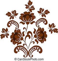 modèle floral, conception, ton