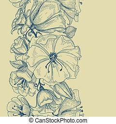 modèle floral, graphique, seamless
