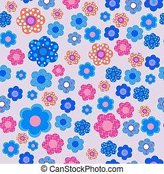modèle floral, lilas, fond, seamless, décoratif