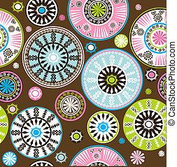 modèle floral, oriental, coloré