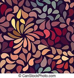 modèle floral, résumé, seamless