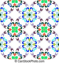 modèle floral, seamless, 4