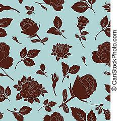 modèle floral, seamless, rose