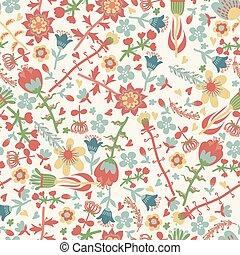 modèle floral, vecteur, seamless