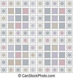 modèle, fond, gris, résumé, carrés, géométrique, seamless