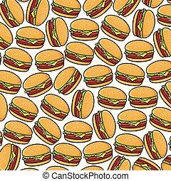 modèle, fond, hamburgers