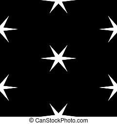 modèle fond, sur, seamless, étoiles, géométrique, blanc