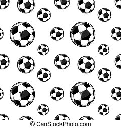 modèle, football, seamless, balles
