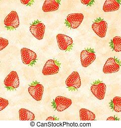 modèle, fraises, seamless