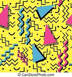modèle, froussard, memphis, jaune