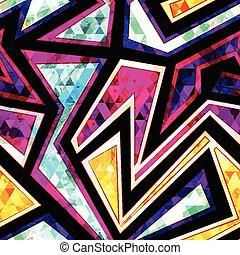 modèle, géométrique, diamant, seamless