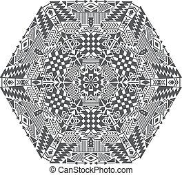 modèle, géométrique, ethnique, tribal, vecteur