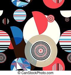 modèle, géométrique, graphique, seamless, circulaire