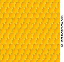 modèle, géométrique, rayons miel, seamless