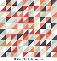modèle, géométrique, retro, seamless