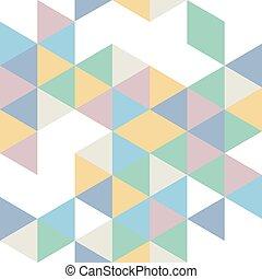 modèle, géométrique, retro, seamless, couleurs
