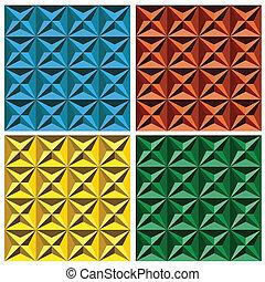 modèle, géométrique, seamless, 3d