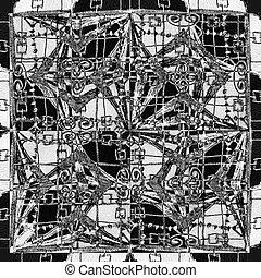 modèle, géométrique, seamless, mosaïque, ethnique