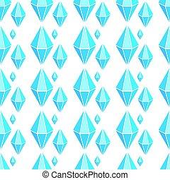 modèle, géométrique, vecteur, seamless, diamants