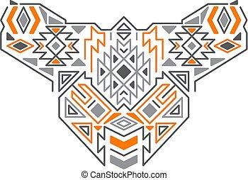 modèle, géométrique, vecteur, tribal, ethnique