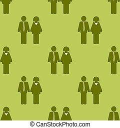 modèle, gens, seamless, icône