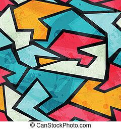 modèle, graffiti, grunge, coloré, seamless