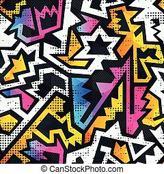 modèle, graffiti, grunge, seamless, effet