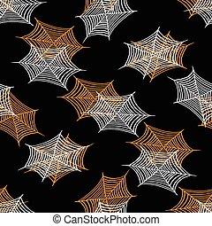 modèle, halloween, seamless, araignés, enchaînements, vecteur