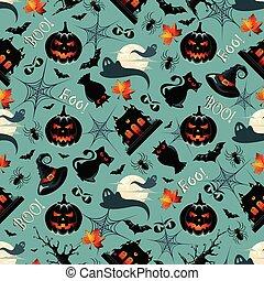 modèle, halloween, seamless, fond