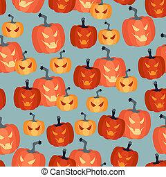 modèle, halloween, seamless, pumpkins.