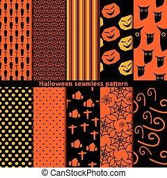 modèle, halloween, seamless