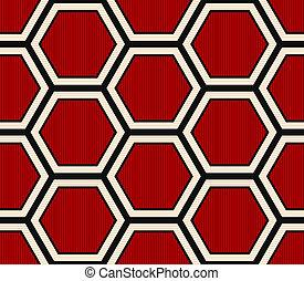 modèle, hexagonal, seamless, moderne