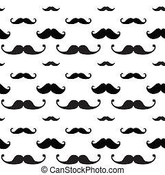 modèle, hipster, seamless, moustache