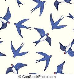 modèle, hirondelle, oiseau