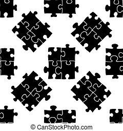 modèle, illustration, puzzles, arrière-plan., vecteur, blanc, icône