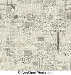modèle, industriel, véhicules