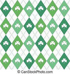 modèle, irlandais, seamless