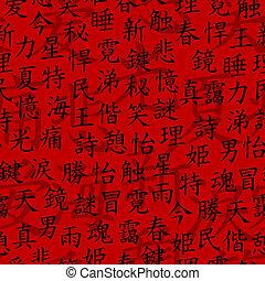 modèle, kanji, seamless