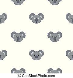 modèle, koala, seamless