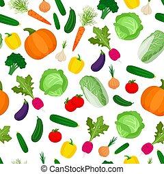 modèle, légumes, seamless, coloré