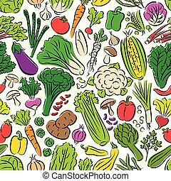 modèle, légumes, seamless