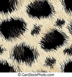 modèle, léopard, fourrure, seamless, taches