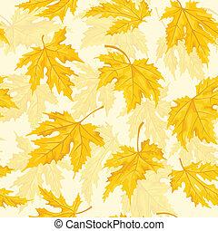 modèle, leaf., seamless, leaves., automne, érable