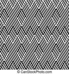 modèle, ligne, noir, blanc, zigzag